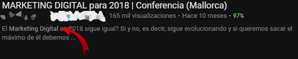 descripción vídeo de youtube